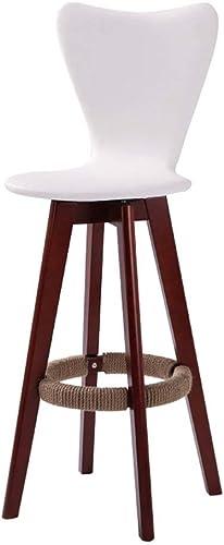 compra en línea hoy JZX Taburete de Bar Bar Bar de la Silla, Taburete de Barra Simple Alto Trasero de la Moda Creativa de Madera sólida,D,1  popular