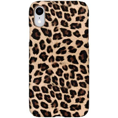 hHülle kompatibel mit iPhone Xr Hülle – Leopard, Wildkatze, Tiermuster – Hard Hülle Handyhülle