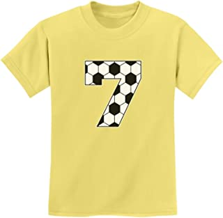 Tstars - Soccer Fan 7th Birthday Gift for 7 Year Old Youth Kids T-Shirt