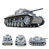 RC Panzer 'Kampfwagen III' 1:16 Heng Long -Rauch&Sound - mit 2,4Ghz Fernsteuerung