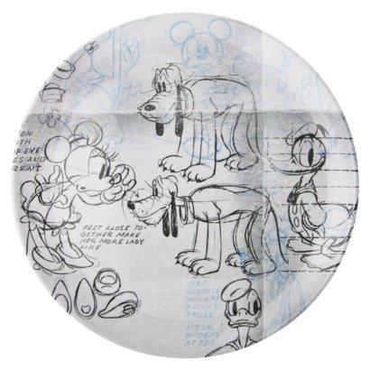 Zak! Disney Mickey Mouse - Plato de ratón, diseño de Mickey Diseños