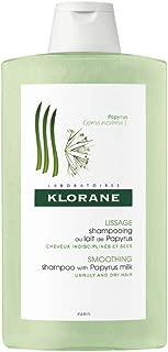 Klorane Smoothing Shampoo with Papyrus Milk, Anti-Frizz & Humidity Control for Sleek Hair, Silicone, SLS, Sodium Chloride Free, 13.5 oz.