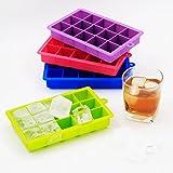 Baytter 4X 15er Eiswürfelform Pralinenform Schokoladenform aus Silikon für Eiswürfel, Schokolade usw. Maße von 34x34mm