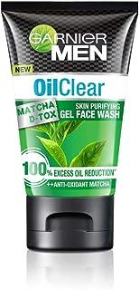 Garnier Men Oil Clear Matcha D-Tox Skin Purifying Gel Face Wash, 100gm