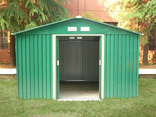 dirty pro tools Metal Garden shed with base 8 ft X 10 ft