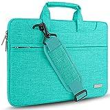 HSEOK Borsa a Tracolla per Notebook, Borsa Porta Laptop Super Sottile e Impermeabile, Fino a 15-15,6-16 Pollici, Blu di lino