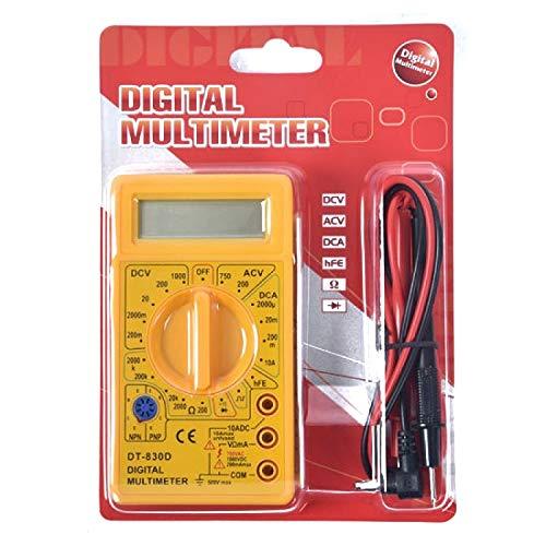 DT830D LCD Display Digital Multi-meter Digital Multimeter (Yellow Color)