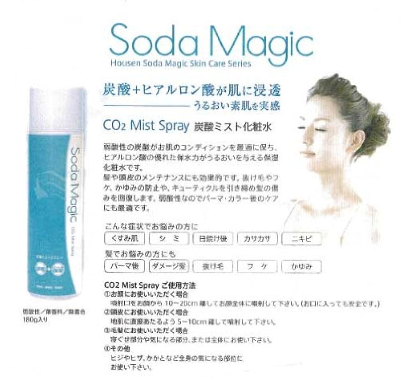 重要な役割を果たす、中心的な手段となるペパーミント帳面Soda Magic 炭酸ミストスプレー(180g)