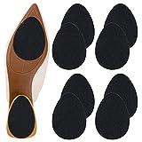 Non-Slip Shoe Pads, GADEBAO Self-Adhesive Anti-Slip Sole Sticker Protector, Premium Odorless Silicone Non Skid Shoe Grips for High Heels (Black-8 pcs)