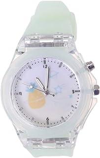 NICERIO Kids Quartz Watch Cute Cartoon Watch Luminous Wristwatch with Silicone Watch Band for Girls Kids (Green)