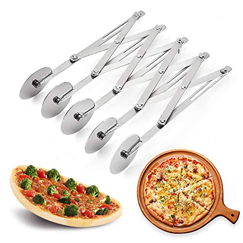 5 Wheel Pastry Cutter, Stainless Pizza Slicer,...