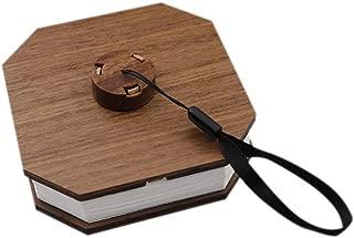 Ktyssp Folding Rechargeable LED Flip Book Lamp Portable Wooden Warm White Night Light Flip Book Lamp (A)