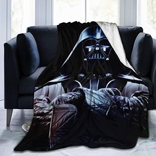 ALBXSWRR Star Wars Manta de Franela de Terciopelo cálido Antibolitas, fácil de cuidar para Todas Las Estaciones, Negro, 80