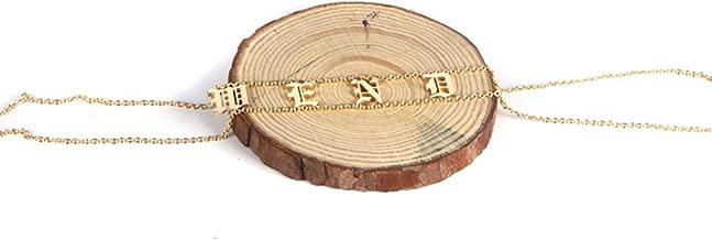 Bilingouy Old English Customized Name Necklace Personalized Gothic Name Choker Gift