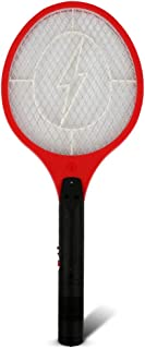 RONSHIN Cordless Rechargeable Electric Fly Swatter Mosquito Insect Racket Bug Zapper (US Plug) red 51X21cm Home Decoration