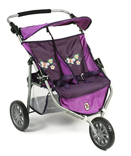 Bayer Chic 2000 697 28 Twin Jogger bébé Poussette, Checker, Violet