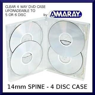 25 x Amaray Multi 4 DVD Case – Multibox de 4 vías en transparente para contener 4 discos en embalaje Dragon Trading