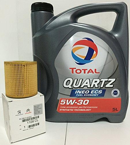 PACK Total Quartz Ineo ECS 5W30 + Filtro aceite original motores GASOLINA (1109.CL)