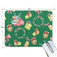 クリスマス マウスパッド 滑り止めゴム製裏面 おしゃれ 厚くした 事務用のマウスパッド 携帯用 25X19CM