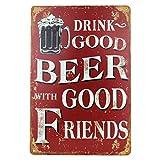 letrero de cerveza motivo retro con refranes vintage letreros de puerta divertidos letreros de cerveza nostalgia decoración letrero de bar 20x30 cm