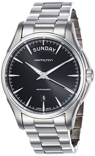 Hamilton Herren-Armbanduhr XL Analog Automatik Leder H32505131