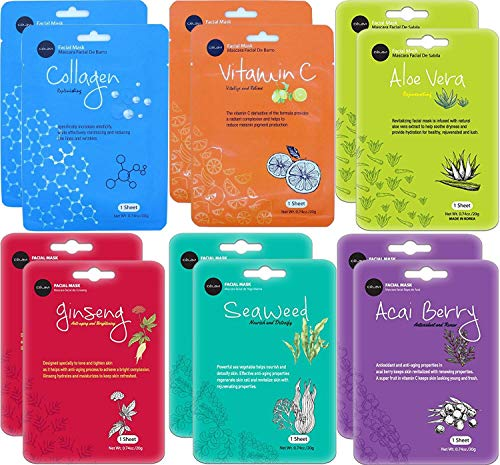 Celavi Essence Facial Face Mask 24 Sheets K-Beauty Skincare Korea Skin Care Moisturizing C type