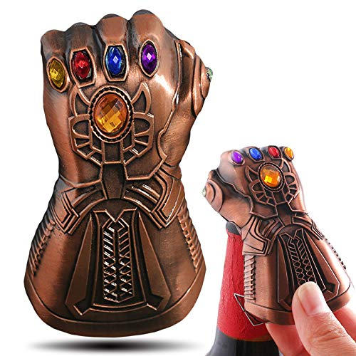 Thanos Gauntlet Gloves Bottle Opener, Creative Infinite War Fist Wine Cap Opener Cool Bar Gadget for Marvel Avengers Fans