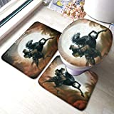 Biooker Bath Mats, Willie Nelson A Horse Called Music Durable Bathroom Rug Mats Set 3 Piece...
