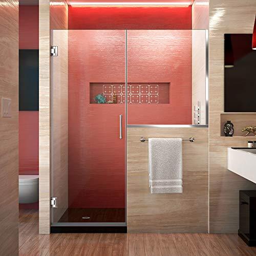 Best Prices! DreamLine Unidoor Plus 60-60 1/2 in. W x 72 in. H Frameless Hinged Shower Door with 34 ...