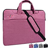 dealcase 38,1-39,6 cm (15-15,6 Zoll) Laptophülle für Damen & Herren, schlicht, Rot (hellrot), 13-13.3 Inch