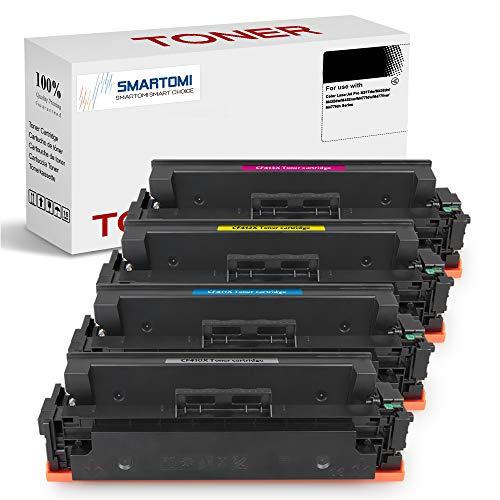 SMARTOMI - 4 cartuchos de tóner KCMY de alto rendimiento compatibles con cartuchos HP CF410X 410X para impresoras HP Color LaserJet Pro M452dn MFP M477fnw M450 M452 M452dw M452nw M477fdn M477fdw 377dw