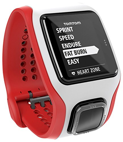 TomTom Runner Cardio GPS-Sportuhr rot/weiß