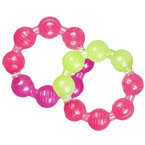 Munchkin Fun Ice Ring Teether, Colors May Vary (Pack of 2)