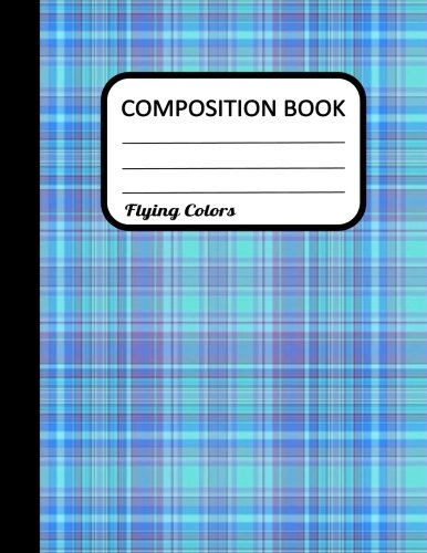 Composition Book: Blue Plaid, Notebook/Diary, Wide Ruled, 100 Pages, 8.5 x 11