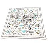 Manyo - Alfombra de juegos plegable para bebé, alfombra de juegos infantil, algodón, alfombra de juego, alfombra de circuito, coche, para niños, 120 x 120 cm