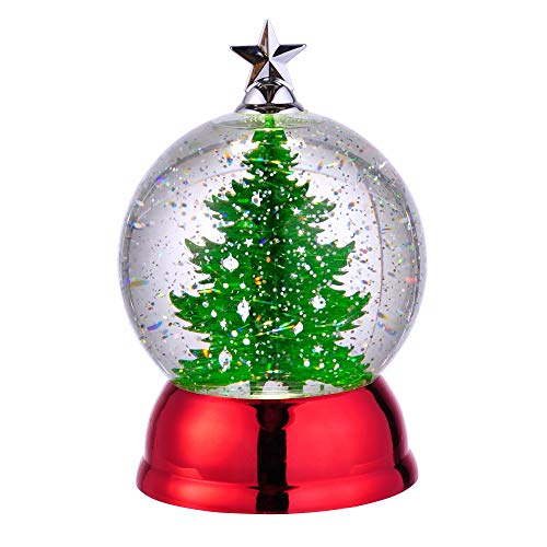 Grasslands Road Light Up Christmas Tree Water Globe