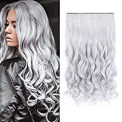 """REECHO 20"""" 1-Pack 3/4 Full Head Wavy Clips in on Synthetic Hair Extensions Hairpieces for Women 5 Clips 4.6 Oz per Piece"""