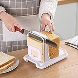 WEIZI Affettatrice per Pane Affettatrice per Toast Regolabile Affettatrice per Pane tostato Affettatrice per Toast Pieghevole Affettatrice per Pane tostato Affettatrice per panini Affettatrice per