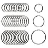 30 Pieces Stainless Steel High Strength Round O Ring 3mm Thickness, for Hardware Bags Ring Hand DIY Accessories, 30mm, 40mm, 50mm, Each of 10