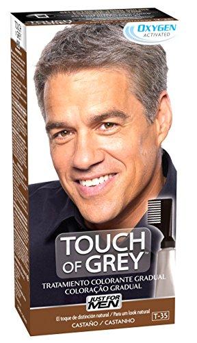 Just For Men, Touch of Grey, Tinte Pelo Reductor de Canas para Hombres, Reduce parcialmente las Canas, Castaño, 40 g