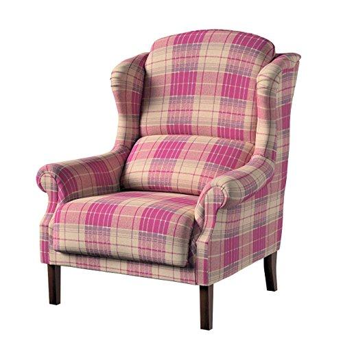 Dekoria Sessel Unique 85 × 107 cm rosa-beige