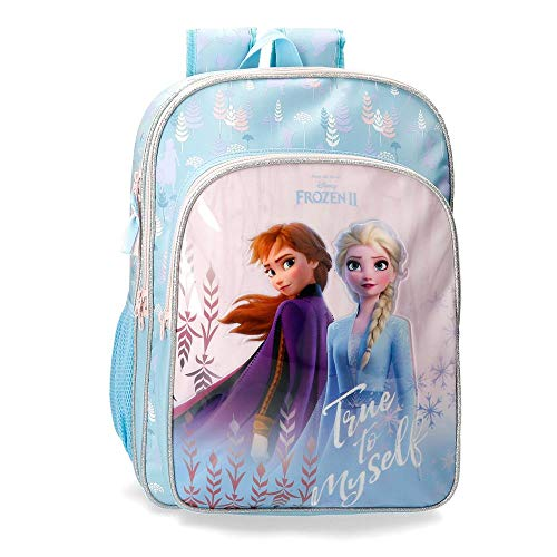 Disney Mochila Escolar Frozen True to Myself 42cm, Azul