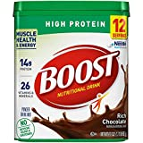BOOST High Protein Powder Drink Mix, Rich Chocolate, 17.7 Ounce Canister (Pack of 6)