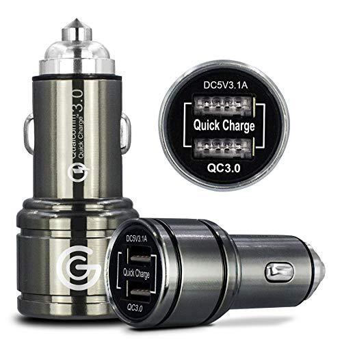 QC 3.0 Kfz-Ladegerät, 2 Anschlüsse, 6 A, schnelles Aufladen mit Smart IC Technologien, für HTC 10 U Play U Ultra U11 U12 Plus U19 U12 Life Desire 12