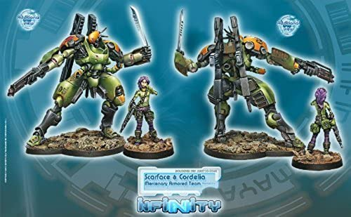 Infinity  Mercenaries - Scarface & Cordelia, Mercenary ArmGoldt Team by Corvus Belli