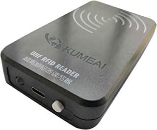 Lector UHF RFID portátil con Bluetooth para Mac, iOS, Windows, Android, Lectura de 50 Etiquetas RFID por Segundo hasta 3 Metros
