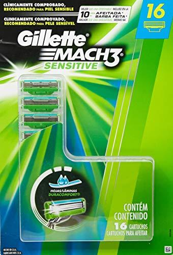 gillette mach3 sensitive 2 cartuchos fabricante Gillette