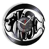 Reloj de Pared con Registro de Vinilo con Peces oceánicos, Relojes Barracuda, Relojes de Pared, decoración del hogar, álbum oceánico, Registro para Acuario
