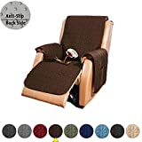 RBSC Home Sofa Slipcovers for 30 Inch Recliners 100% Waterproof Quilted Thick and Long Enough to Cover The Footrest Part, Premium Couch Cover for Dogs, Cats and Kids (30' Recliner, Coffee)