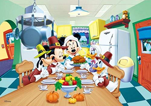 olwonow 1000 Piezas de Rompecabezas de la sabiduría 75x50cm Mickey Mouse Adultos niños Rompecabezas